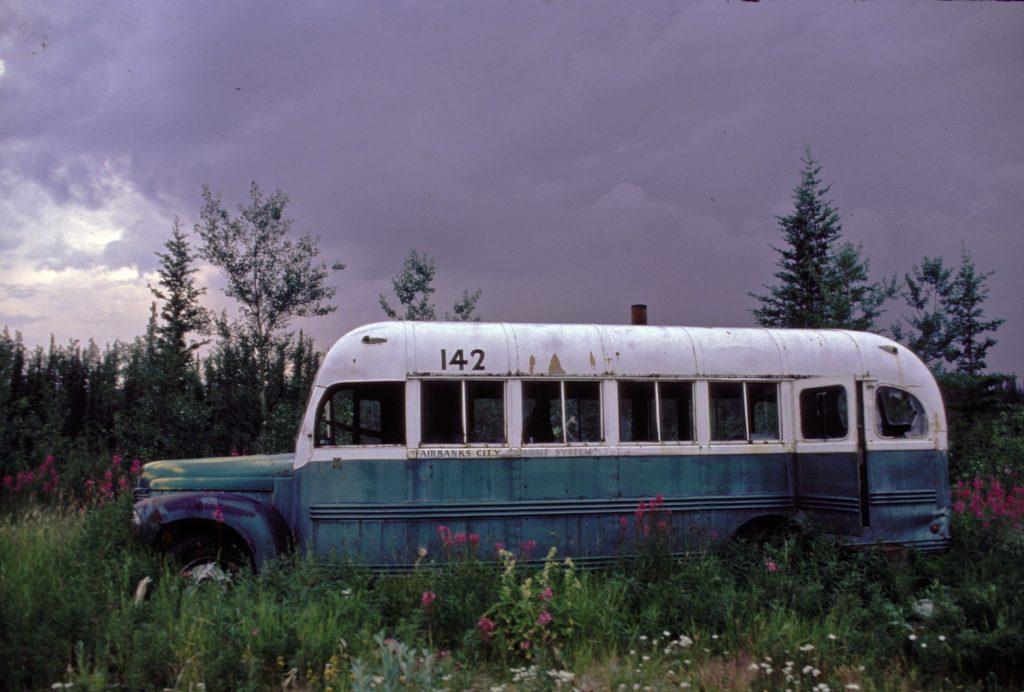 Il bus dove ha vissuto gli ultimi giorni della sua vita